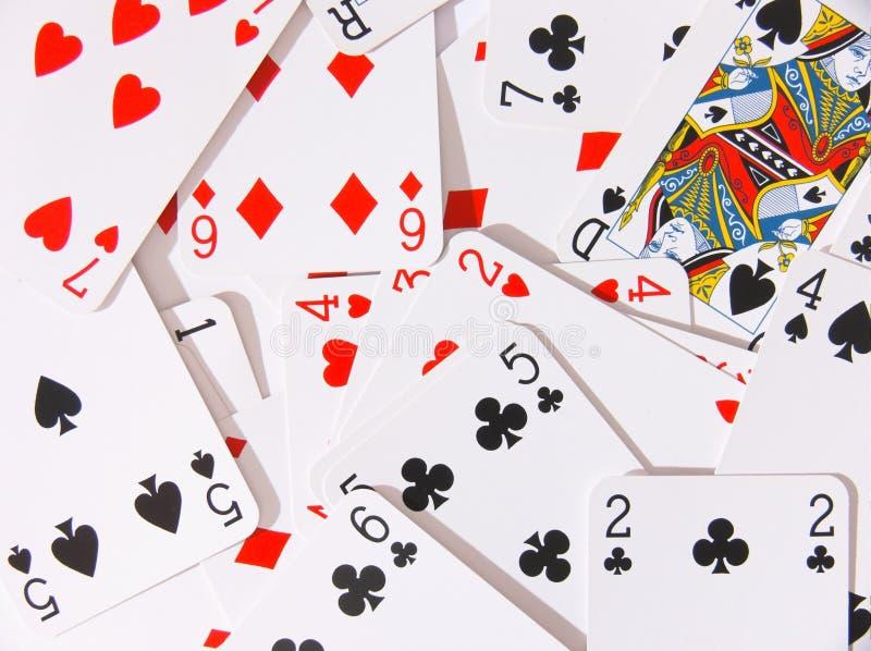 kortspelrum royaltyfria bilder