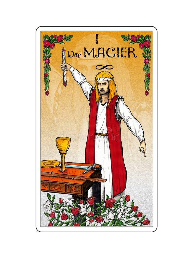 korttarot royaltyfri illustrationer