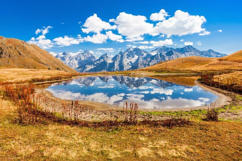 Koruldi湖, Svaneti 库存图片