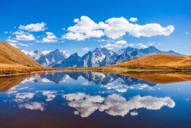 Koruldi湖, Svaneti 免版税库存照片