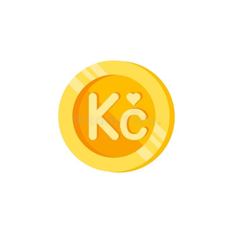 Koruna, νόμισμα, εικονίδιο χρώματος χρημάτων Στοιχείο των σημαδιών χρηματοδότησης χρώματος Γραφικό εικονίδιο σχεδίου εξαιρετικής  ελεύθερη απεικόνιση δικαιώματος