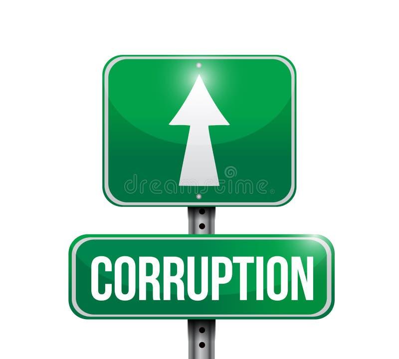 korupci poczta znak uliczny również zwrócić corel ilustracji wektora royalty ilustracja