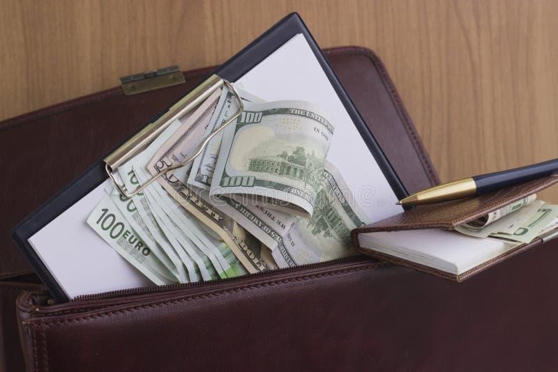Korupcja i łapówkarstwo fotografia stock