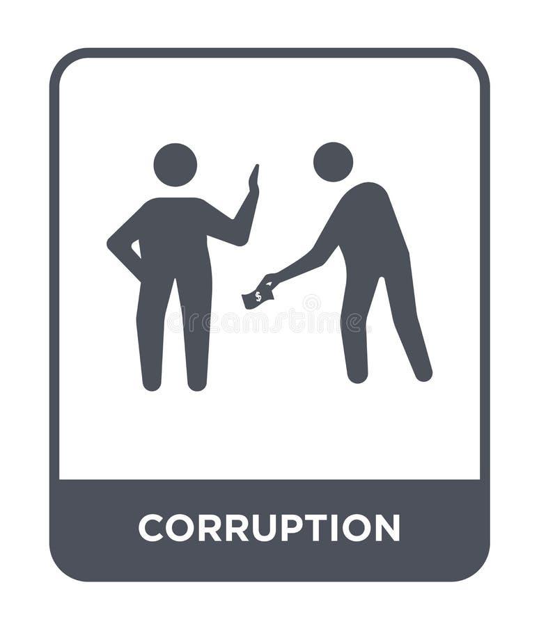 korupcji ikona w modnym projekta stylu korupcji ikona odizolowywająca na białym tle korupcji wektorowa ikona prosta i nowożytna ilustracja wektor