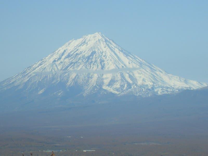 Koryak volcano. Autumn in Kamchatka royalty free stock images