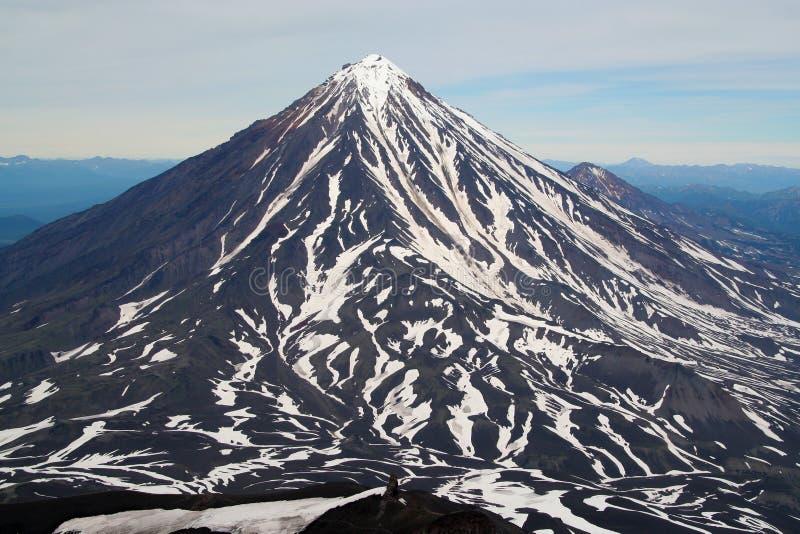 koryakskiy vulcan стоковое фото rf