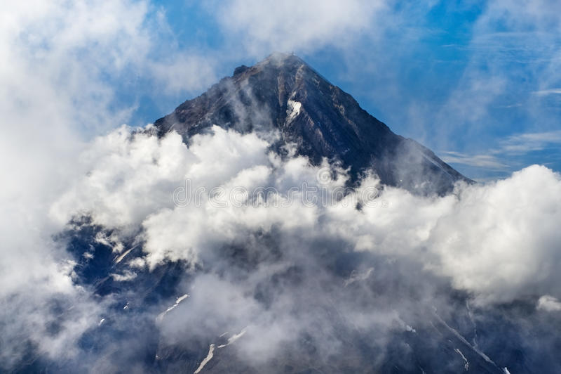 Koryaksky volcano on Kamchatka royalty free stock image