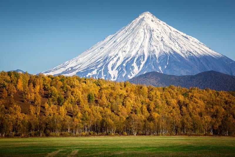 Koryaksky vulkan, Kamchatka arkivfoto