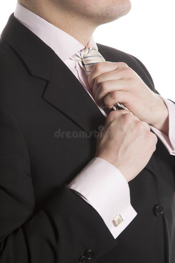 koryguje mężczyzna krawat fotografia royalty free