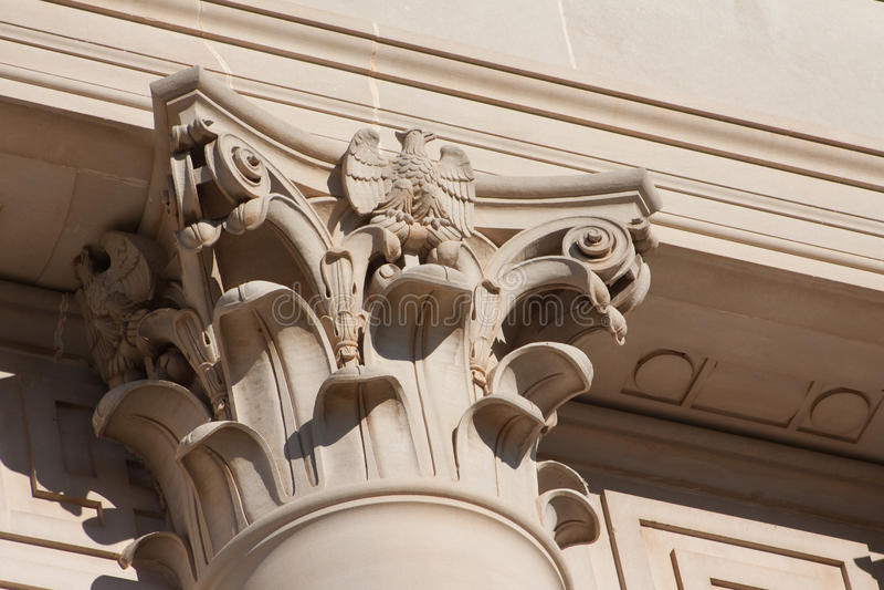 Koryncka kolumna przy Oklahoma Capitol zdjęcie royalty free