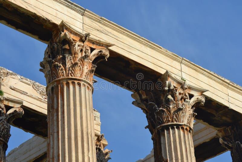 Korynckie kolumny obraz royalty free