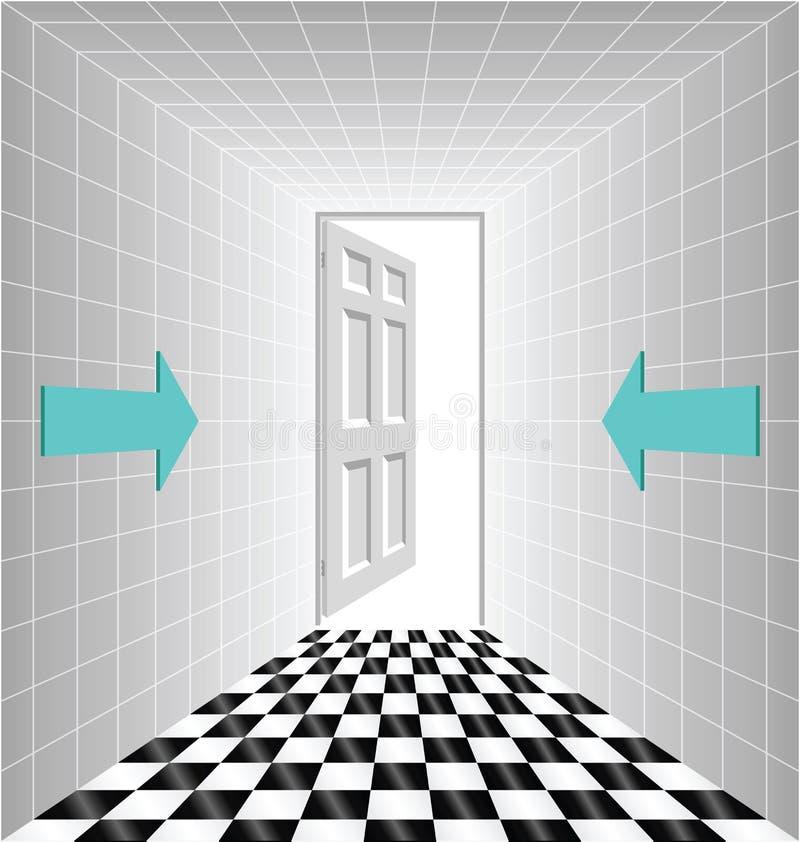 korytarz royalty ilustracja