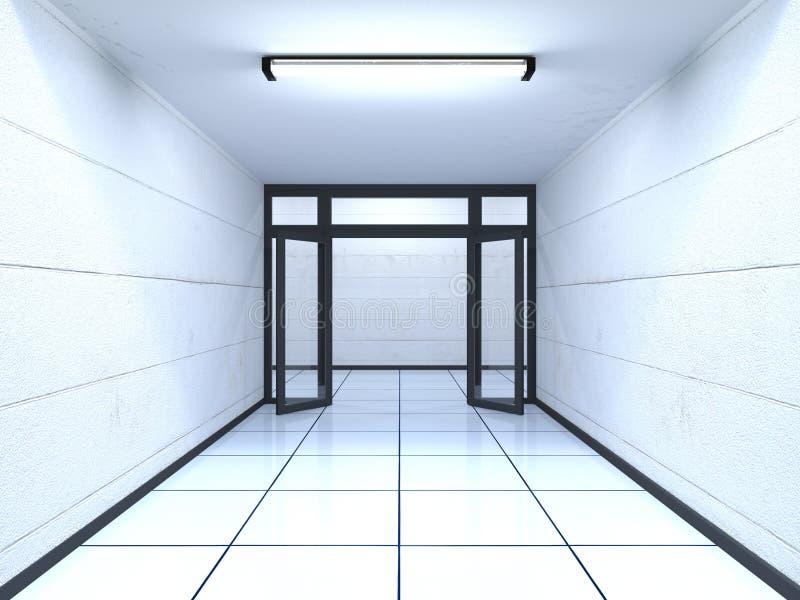 korytarz ilustracji