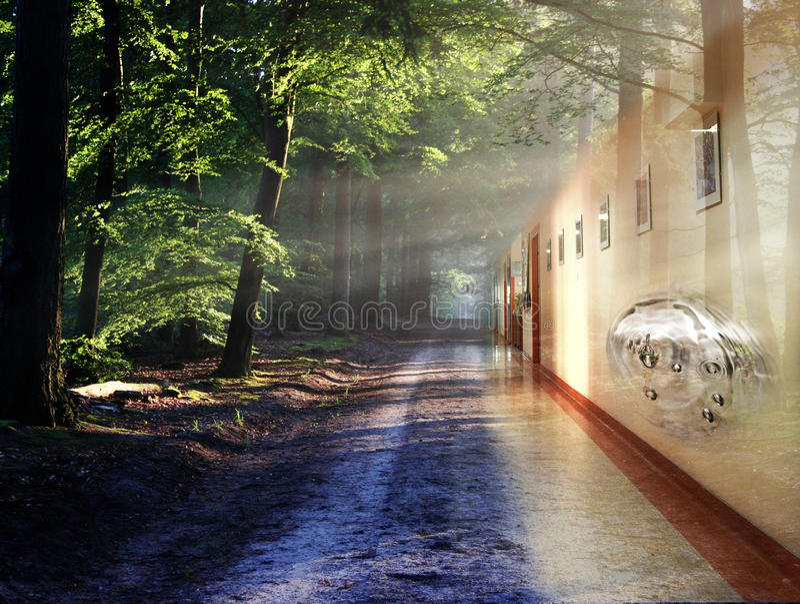 korytarz abstrakcyjne fotografia royalty free