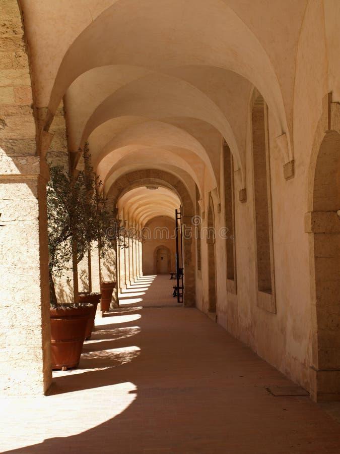 korytarz jest hospicjum ludzi obraz royalty free
