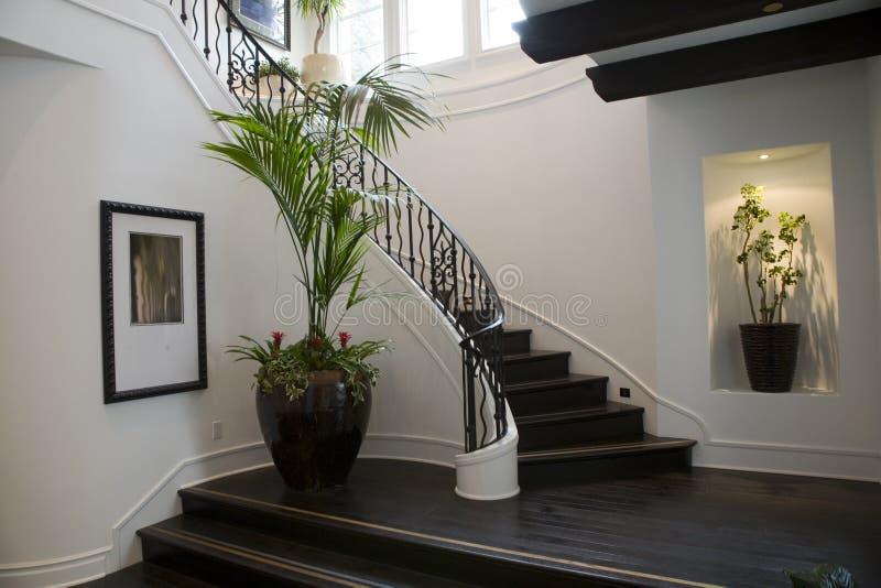 korytarz luksusu w domu zdjęcia stock