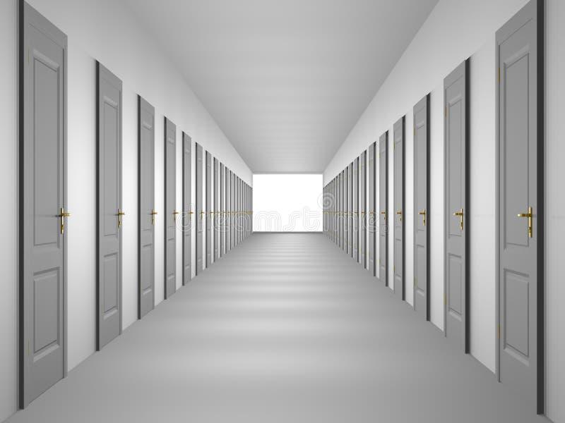korytarz niekończące się royalty ilustracja