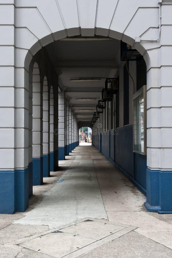 korytarz perspektywa obraz royalty free