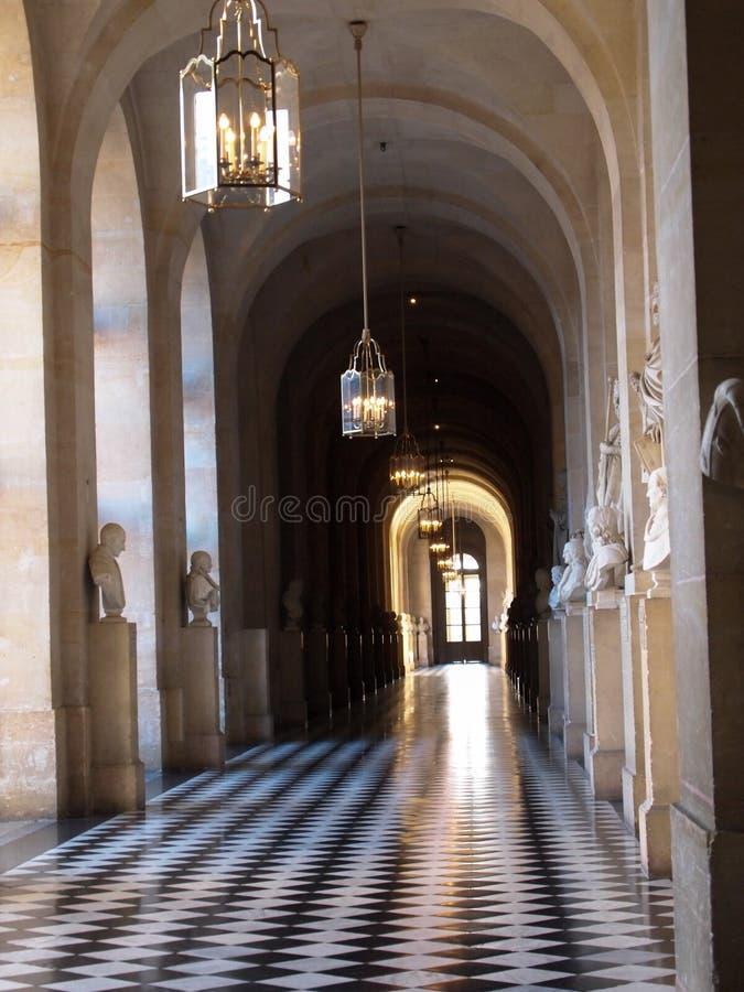 Korytarz przy Versailles pałac obraz royalty free