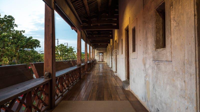 Korytarz, starego budynku chiński styl zdjęcia royalty free