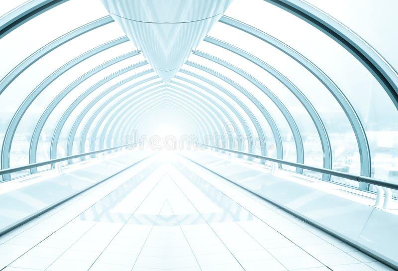 korytarza błękitny szkło obraz royalty free
