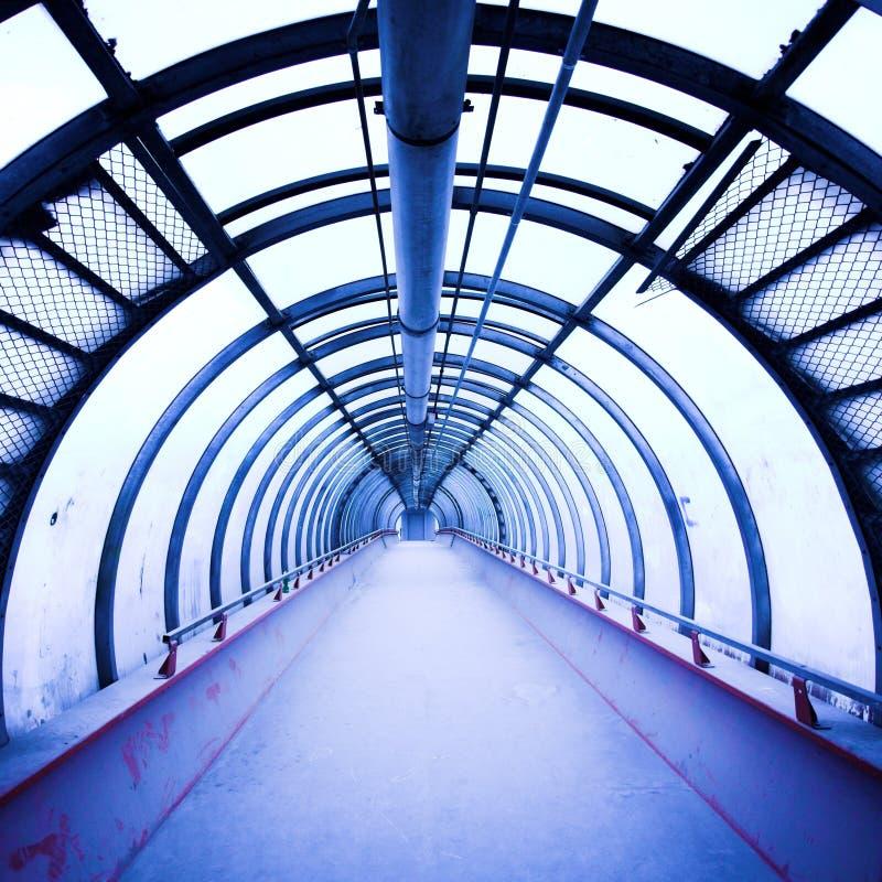 korytarza błękitny szkło zdjęcie stock