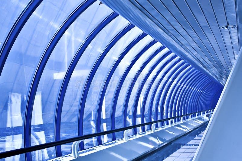 korytarza błękitny szkło obraz stock