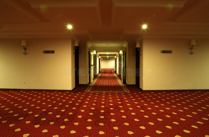 korytarza hotelu luksus obrazy stock