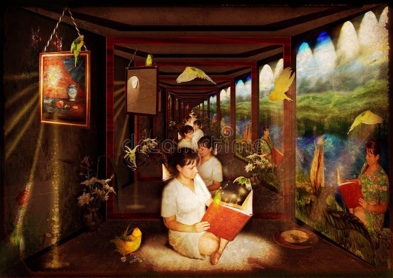 korytarza lustro ilustracja wektor