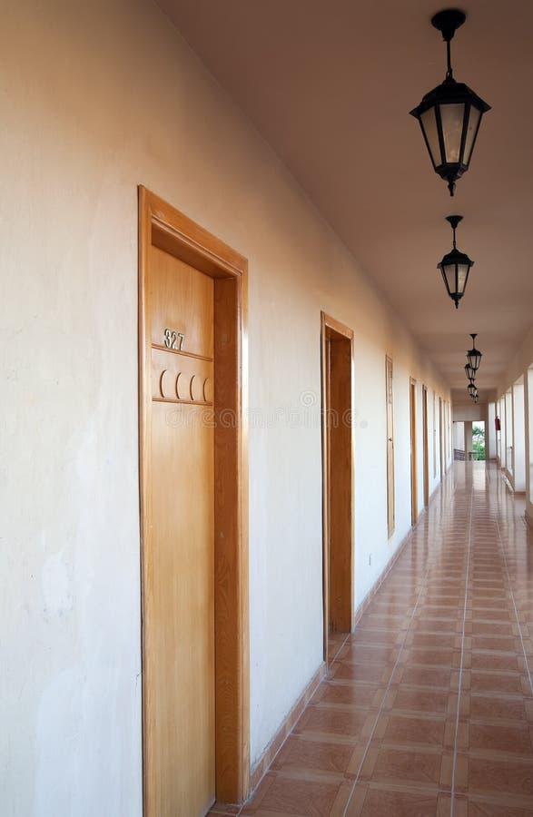 korytarza motel obrazy royalty free