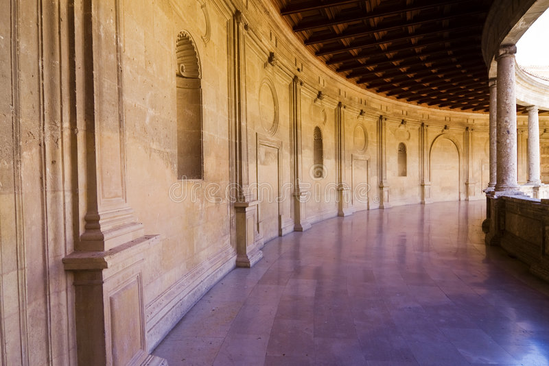 korytarza pałac obraz royalty free