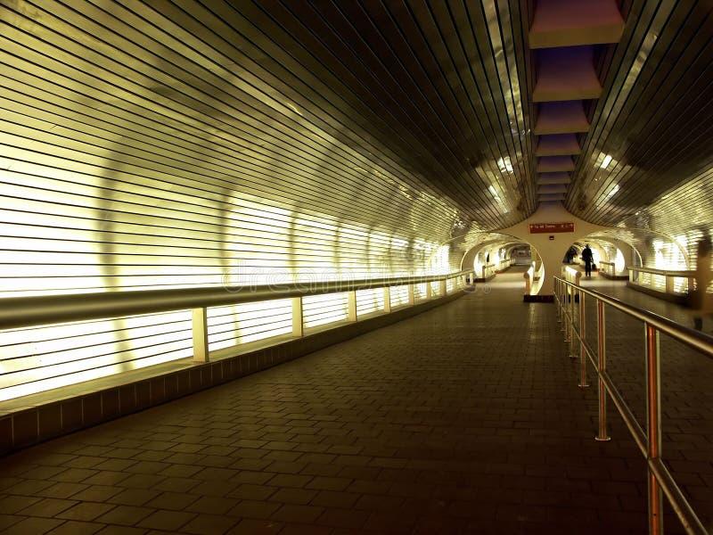 korytarza staci pociągu tunel obrazy stock