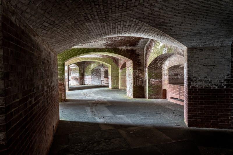 Korytarze Fort Point, San Francisco zdjęcia stock