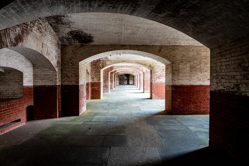 Korytarze Fort Point, San Francisco, Kalifornia obraz royalty free
