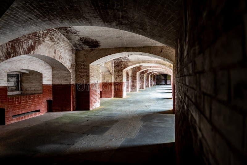 Korytarze Fort Point w San Francisco fotografia stock