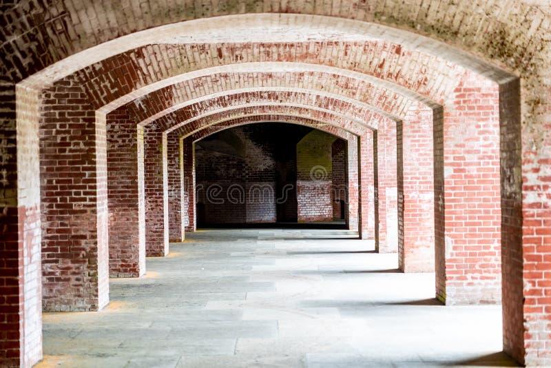 Korytarze Fort Point w San Francisco, Kalifornia fotografia stock