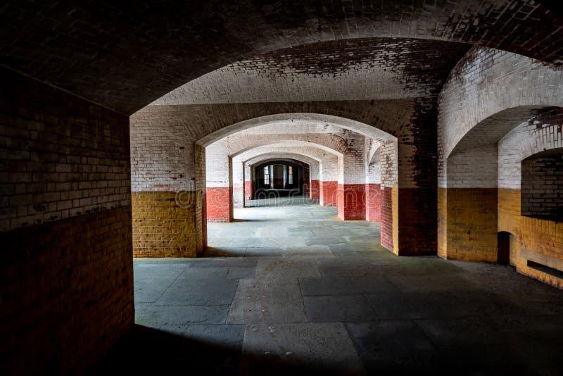 Korytarze Fort Point w San Francisco, Kalifornia, USA fotografia royalty free