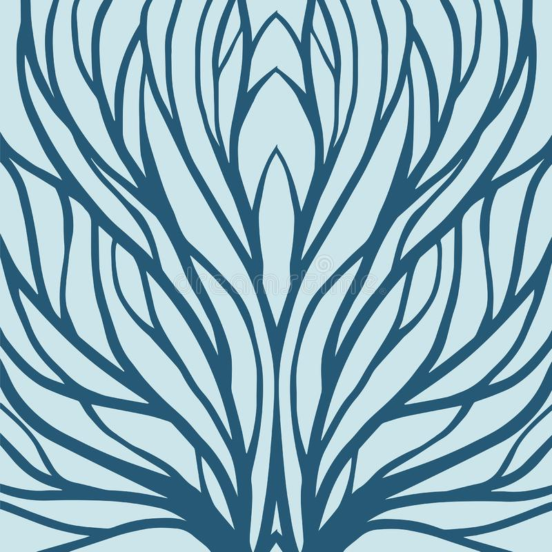 Korzeniowa deseniowa ilustracja dla tkaniny i druku ilustracja wektor