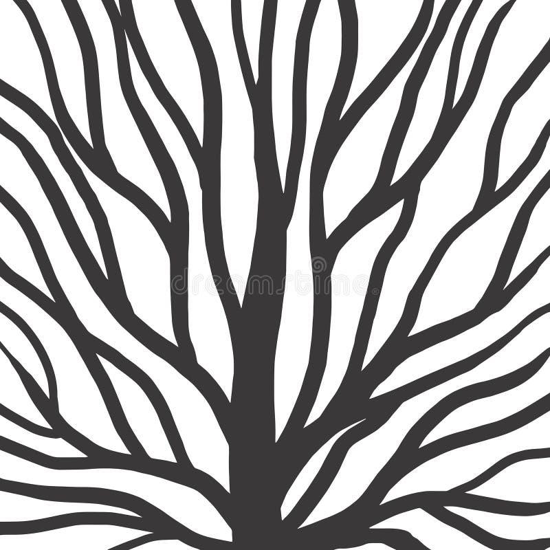 Korzeniowa deseniowa ilustracja dla tkaniny i druku ilustracji