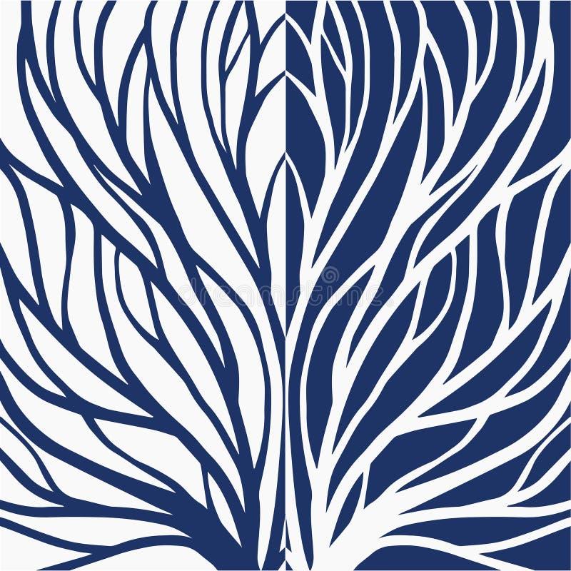Korzeniowa deseniowa ilustracja dla tkaniny i druku royalty ilustracja