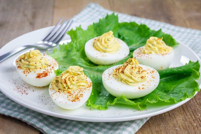 Korzenni deviled jajka zdjęcie stock