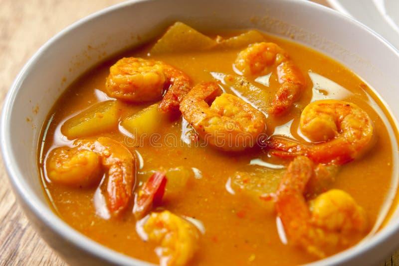 Korzenny krewetkowy curry. fotografia stock
