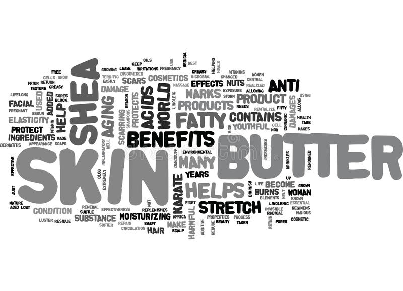 Korzyści I skuteczność masłosza Butterword chmura ilustracja wektor