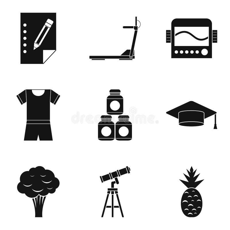 Korzystne własność ikony ustawiać, prosty styl ilustracja wektor