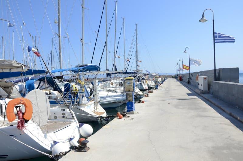 Kos,希腊港  库存图片