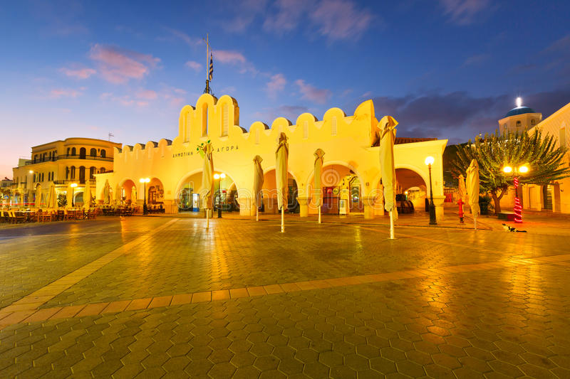 Kos island. Market hall in the main square of Kos town royalty free stock image