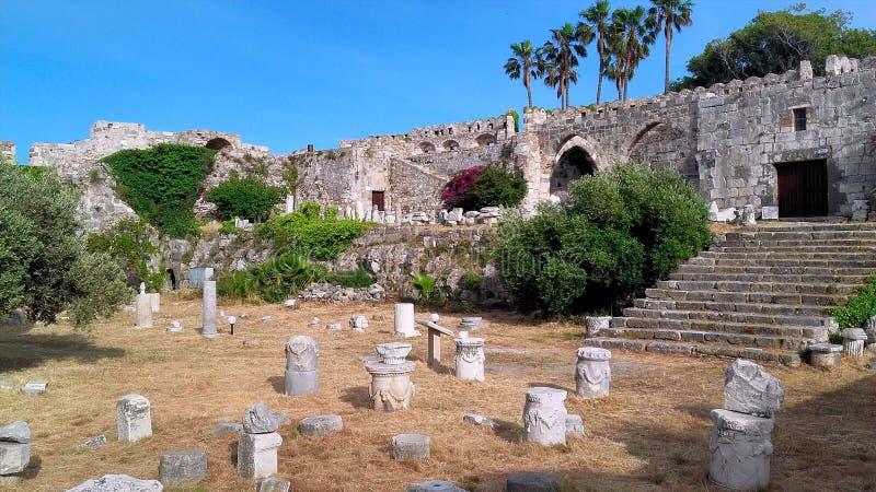 KOS ISLAND - Neratzia Castle. Greece, Kos Island, Neratzia Castle, Kos Town royalty free stock photos