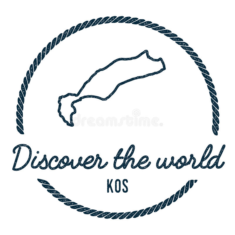 Kos map outline vintage discover the world stock vector download kos map outline vintage discover the world stock vector illustration of grungy gumiabroncs Gallery