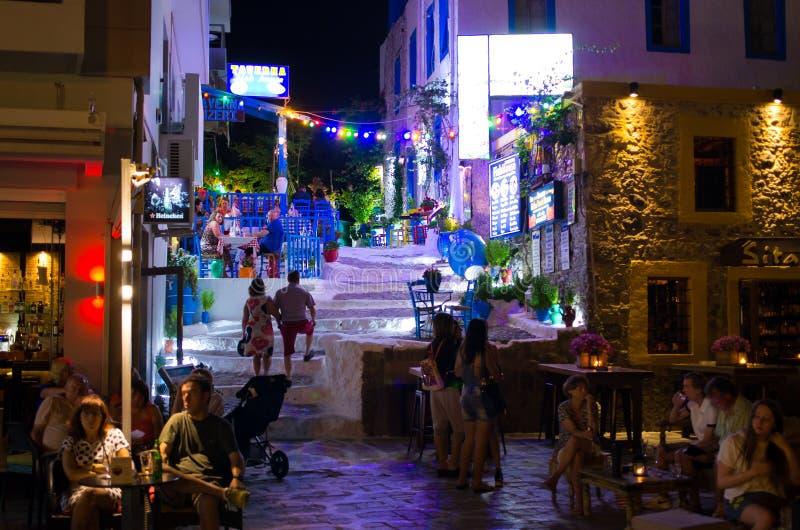 Kos stad i Grekland arkivbilder