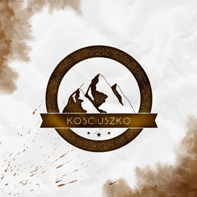 Kosciuszko logo royaltyfri illustrationer